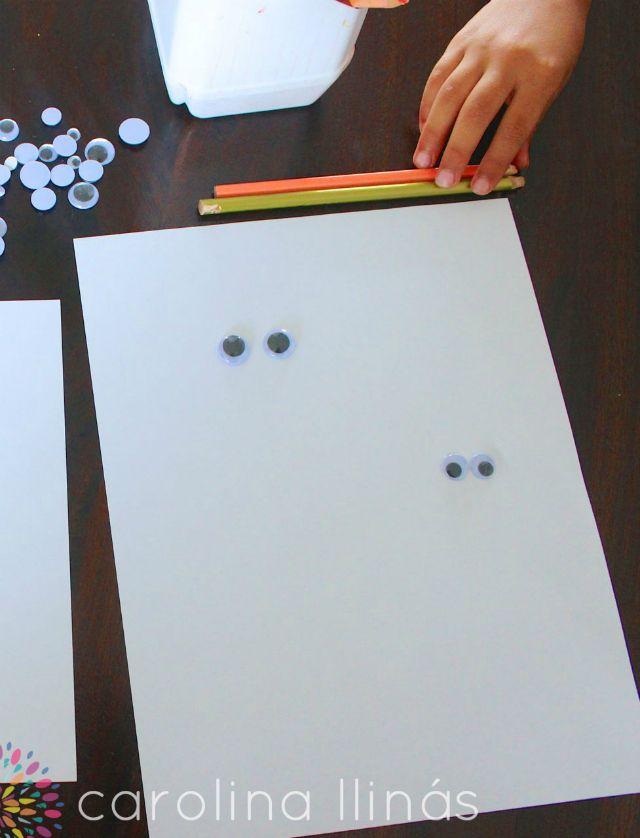 Dibujos con ojos locos: invitación a crear | #Artividades