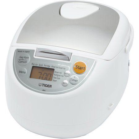 Tiger Rice Cooker/Warmer/Steamer/Slow Cooker, White
