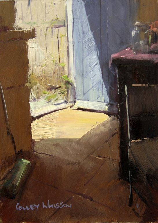 Colley Whisson   A Touch of sunlight, 8x6 Oil