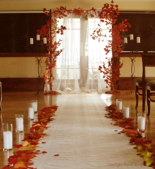 Winter Wedding Arch Decoration Ideas: Autumn Branches Arch By Limelight Floral Design, Hoboken