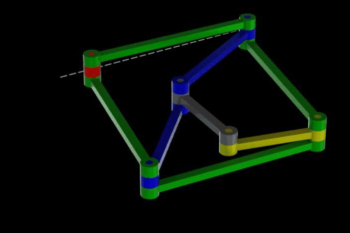 Peaucelier Mechanism II - Other, SOLIDWORKS, STEP / IGES, STL, Parasolid - 3D CAD model - GrabCAD