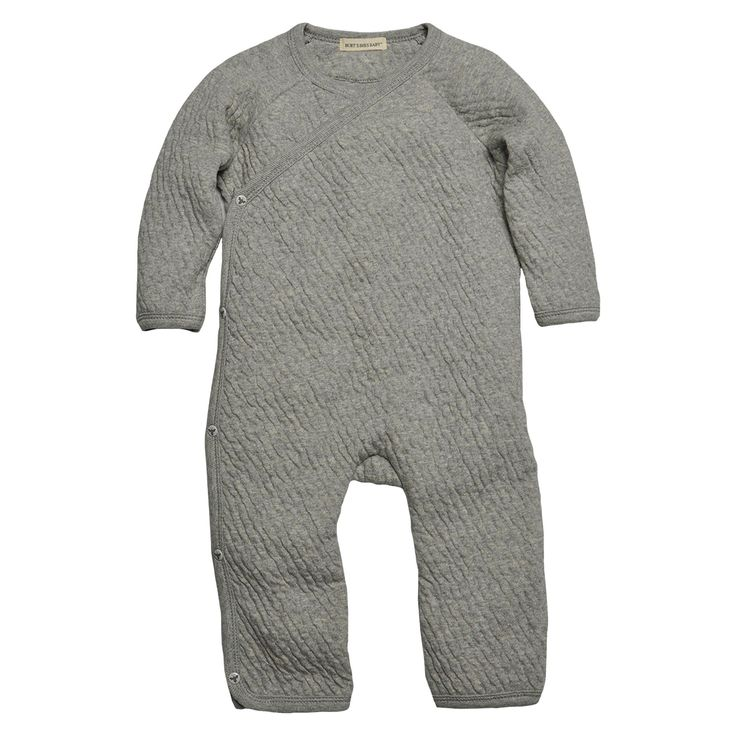 Burts Bees Baby™ Newborn Side Snap Coverall - He... : Target