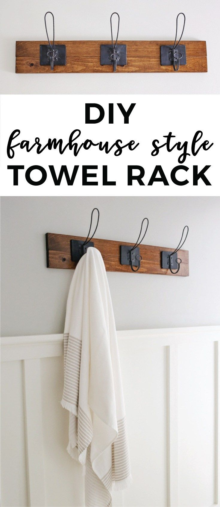 Kitchen towel hanging ideas - Farmhouse Style Diy Towel Rack