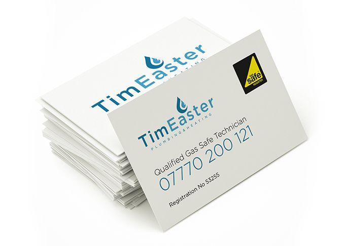 Tim Easter Plumber Business Cards