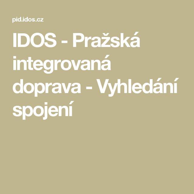 IDOS - Pražská integrovaná doprava - Vyhledání spojení