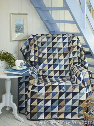 blue half square triangles