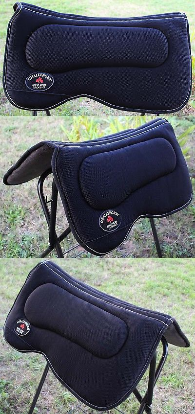 Saddle Pads 47308: Western Horse Saddle Pad Anti Slip Contoured Memory Foam Black Tack Equine 3964 -> BUY IT NOW ONLY: $55.99 on eBay!