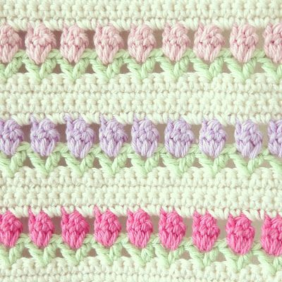 flower row in crochet