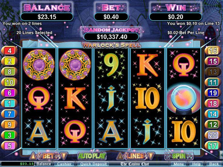 Warlock's Spell RTG Slots Online Casino Reviews