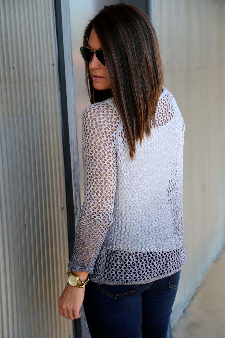 Shaded Crochet Knit {Gray} - The Rage - 3