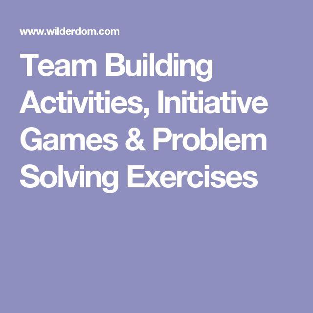 problem solving team building games