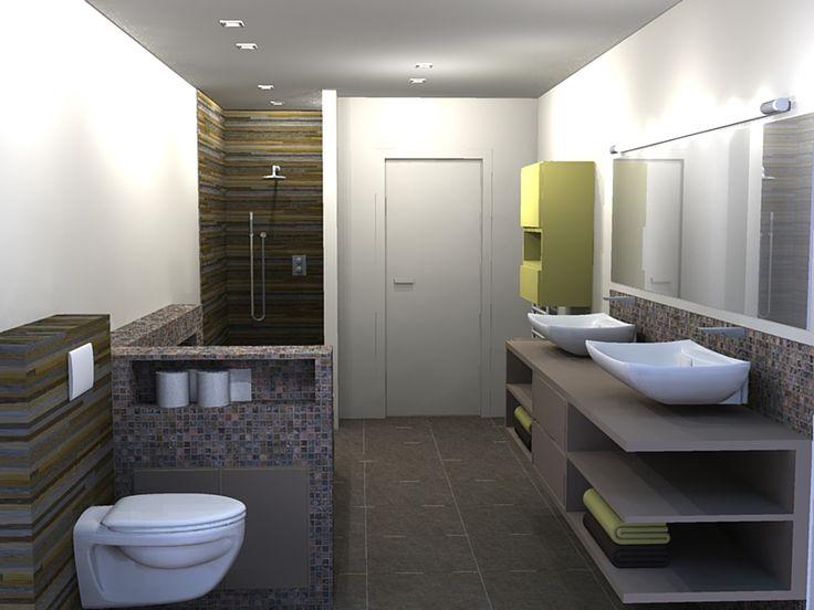 92 beste afbeeldingen over badkamer op pinterest for Disenos de banos completos