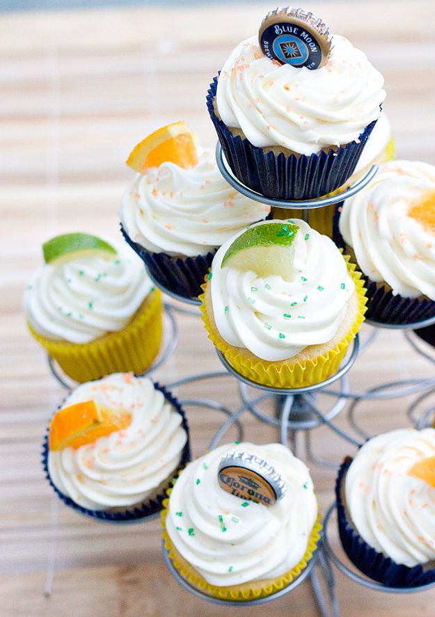 Beer Cupcakes ... Corona and Blue Moon Sweetness