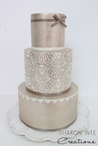 stencils for wedding cakes embellished stencil cake wee creations 7702