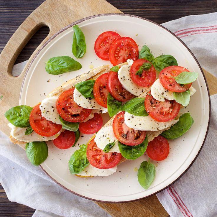 Ser mozarella + pomidory