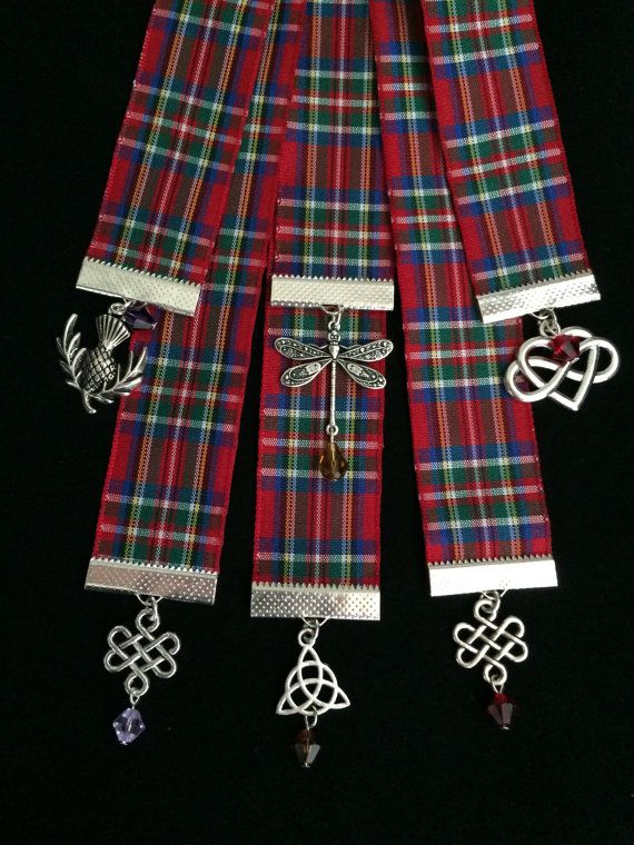Outlander Inspired Tartan (Plaid) Ribbon Bookmarks Themed for All Eight Books