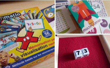 3 petits jeux abordables pour apprendre et mémoriser les tables de multiplication efficacement et durablement. A partir de 7 ans.