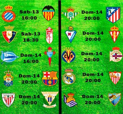 La Liga Full: Horario Jornada 37