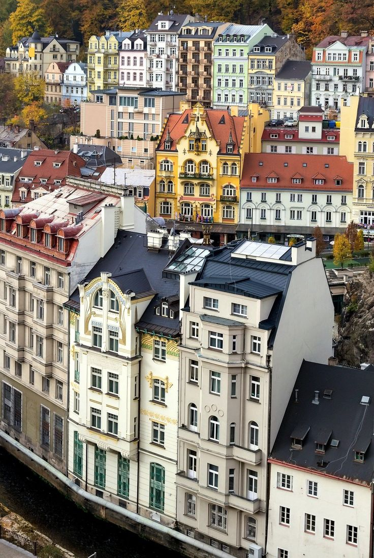 Day trip from Prague to Karlovy Vary, a spa town famous for its healing mineral water hot springs.
