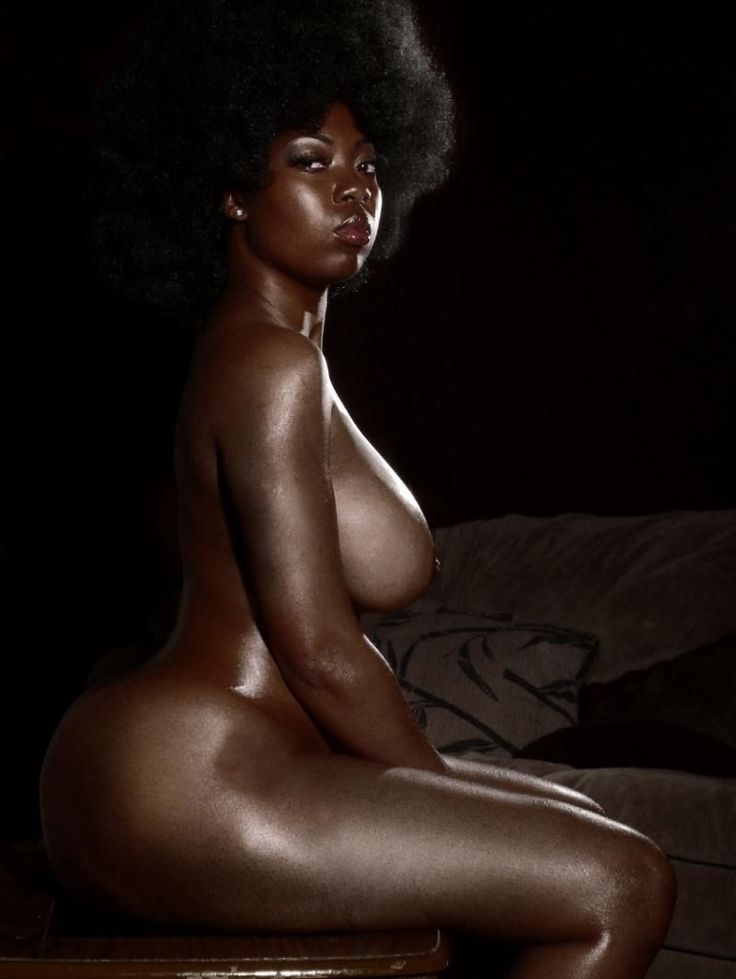 Naked very dark black women