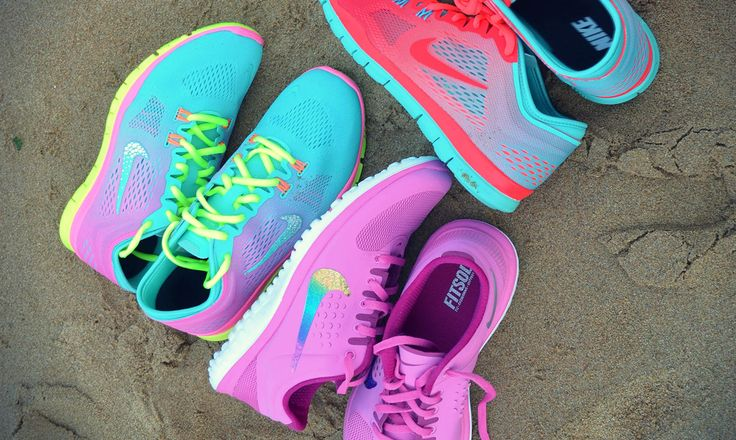 Cute pastel running shoes...love it.