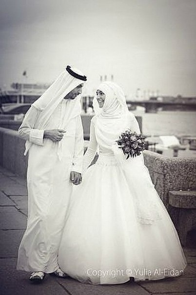 """Most couples express their love by saying ""I'll be with you until death do us part"", but it's more beautiful for Muslim couples. For us, it's ""Not even death will part us because we'll be reunited in Jannah, insha Allah."""
