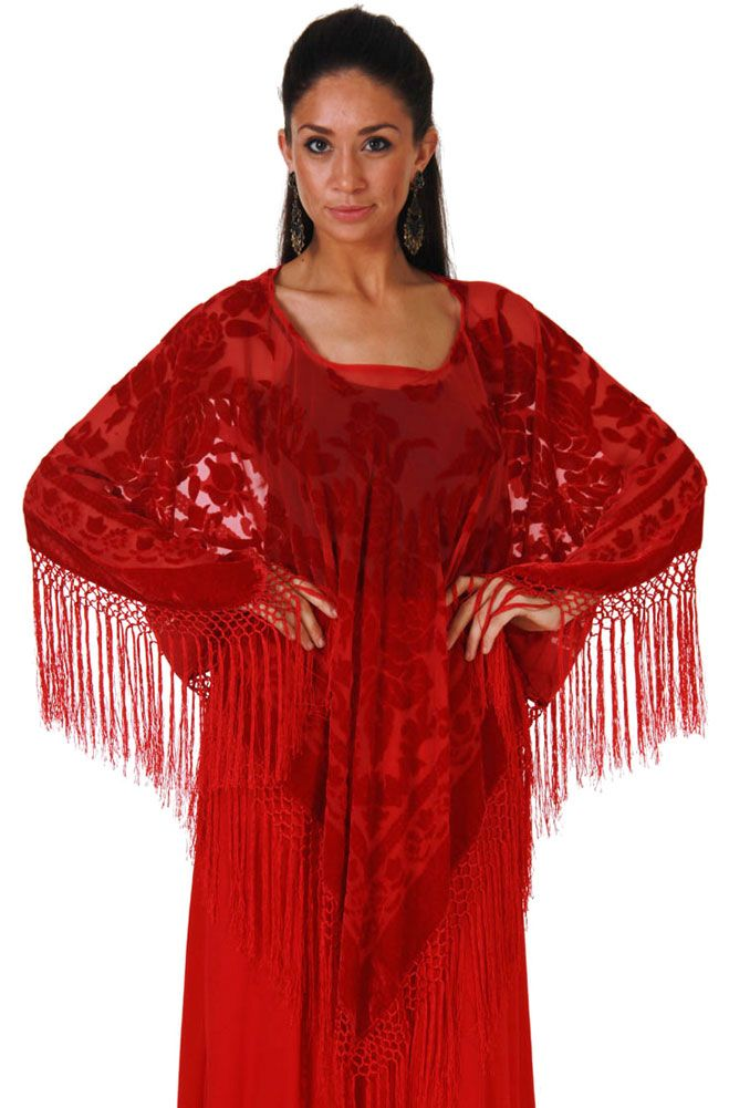Boho Chic Burnout Rayon and Silk Pancho top: Western Wear | Women Western Clothing | Western Apparel Clothing
