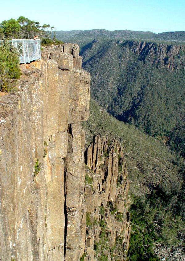 Devils Gullet Lookout, Great Western Tiers, #Tasmania. Photo by Dan Fellow for www.think-tasmania.com