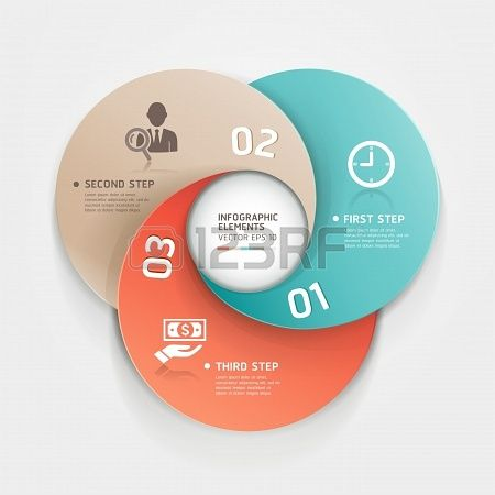 Modern #Business Circle #Origami style options. #Infographic