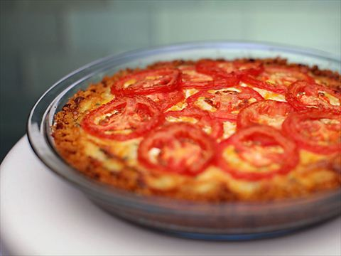 Tomato Pie With Cheddar Crust Video : Food Network - FoodNetwork.com
