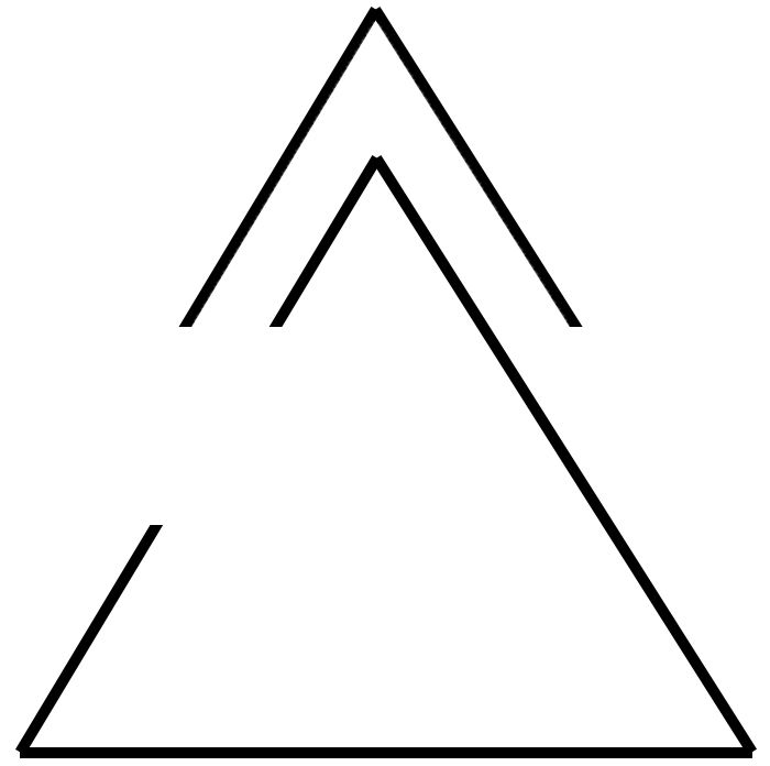 Flecha superior (sombrero) significa progreso, moviéndose hacia adelante; triángulo abierto significa apertura al cambio. Upper arrow (hat) means progress, moving forward; open delta means openness to change.