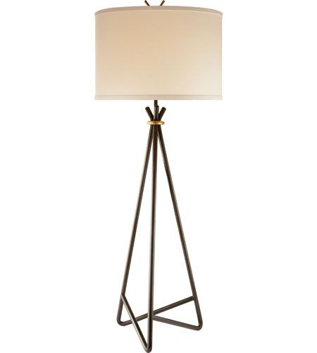 Visual Comfort Studio Diana 1 Light Decorative Floor Lamp in Aged Iron with Wax S1087AI-L