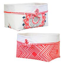 All fabric storage baskets.  Perfect for baby's little things