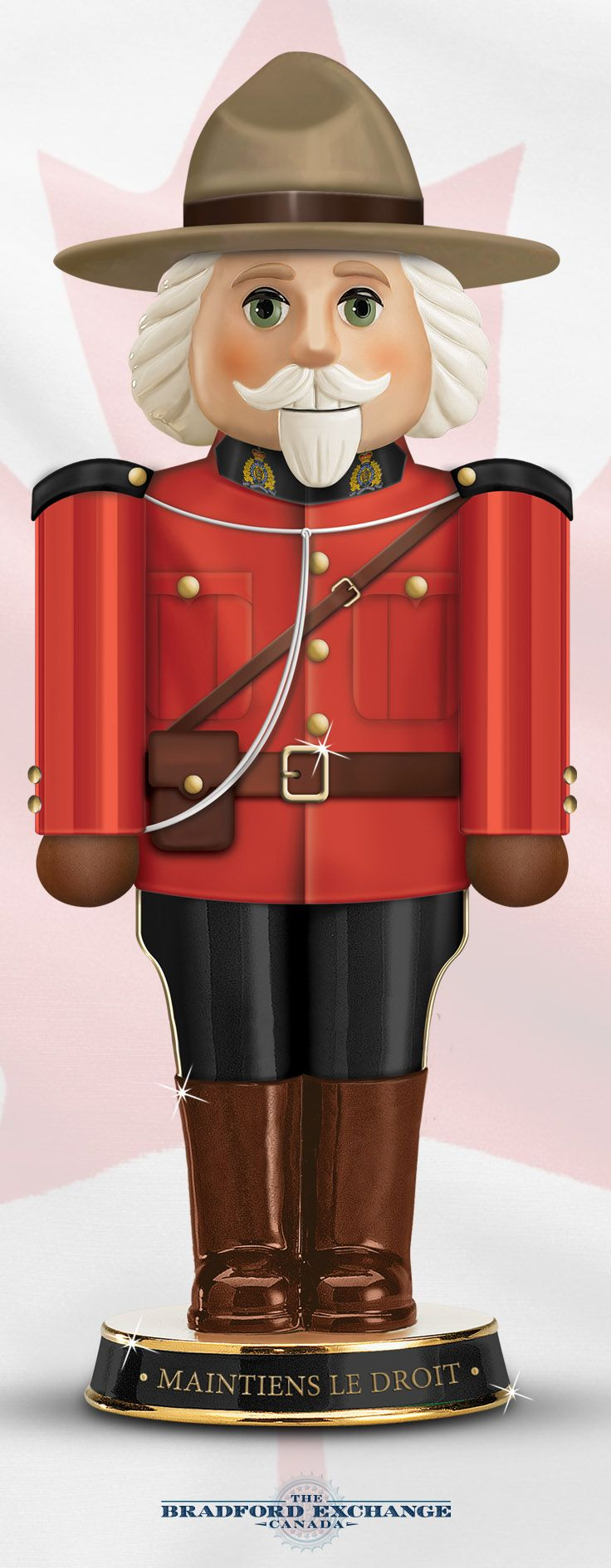 Maintiens le droit! Show off your Mounties pride with this first-of-its-kind RCMP nutcracker.