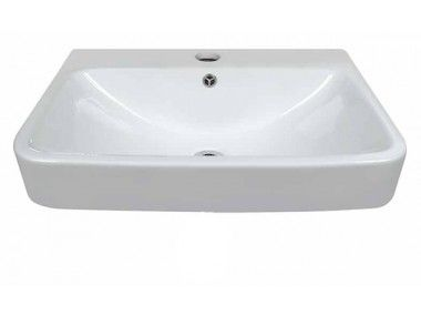White Vicenza Rectangular Basin