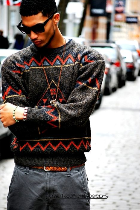 cool sweater love the sweater streetstyle fashion men tumblr Style grey pants