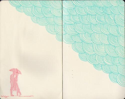 Underneath the Rain Sky by Kaja Zalokar  (moleskine)