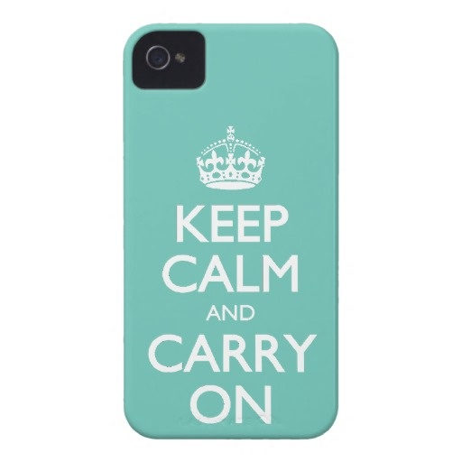 #KeepCalm And Carry On - #Cockatoo Mint. White Text #iPhone4Cases
