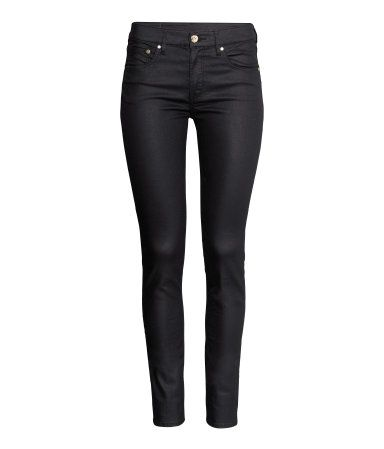 Waxed Skinny Jeans   H&M US