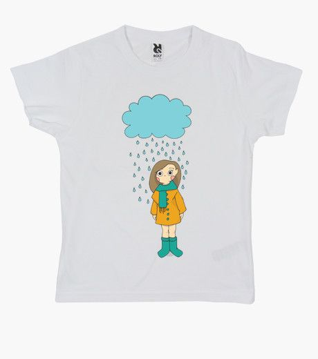 Camiseta Girl in the rain  | t-shirt design | Kids fashion