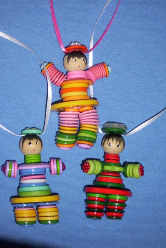 button doll doll necklace childrens toy by babybundlesandmore, $8.00