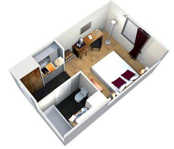 les 100 meilleures images propos de studio tudiant sur. Black Bedroom Furniture Sets. Home Design Ideas