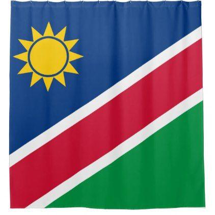 Namibia Flag Shower Curtain - shower curtains home decor custom idea personalize bathroom
