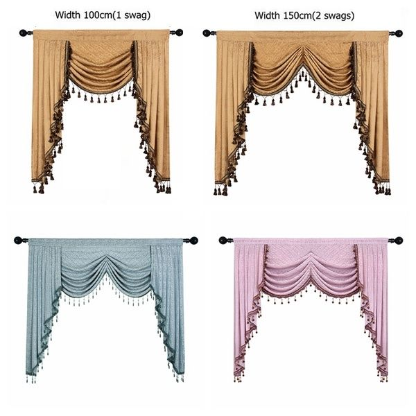 European Luxury Valances For Living Room Waterfall Valances For Kitchen Modern Curtains For Living Room Swag Valances Rod Pocket 1 Piece Wish Valances For Living Room Curtains Living Room Swag Curtains #swag #valances #for #living #room
