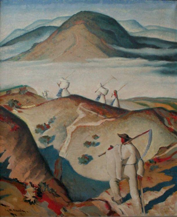 Meadows, 1934, Martin Benka. Slovak (1888 - 1971) - Oil on Canvas -