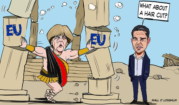 greek crisis cartoons | Niall O'Loughlin - Caricature Artist