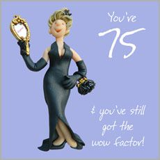 Click to view the 75th Female Birthday Card ~ ESB176