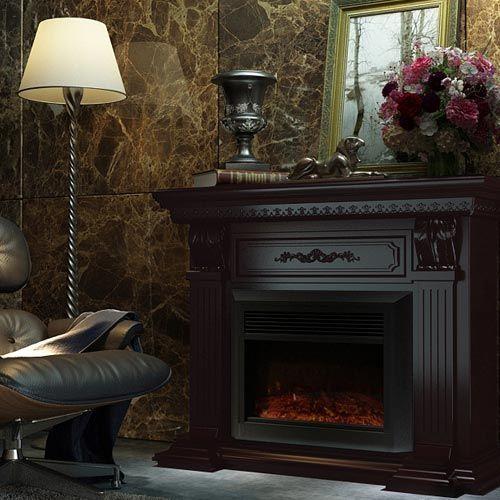 Buy Luxo Edna 1950W Electric Fireplace Heater - Brown Online Australia