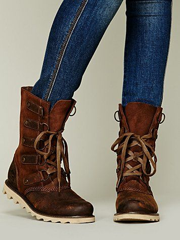 I miss winter and winter boots. Scotia Foldover Boot