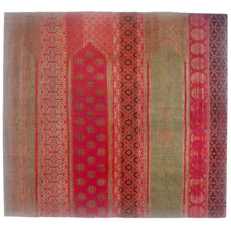~  Hispano-Moresque silk and metal thread saf